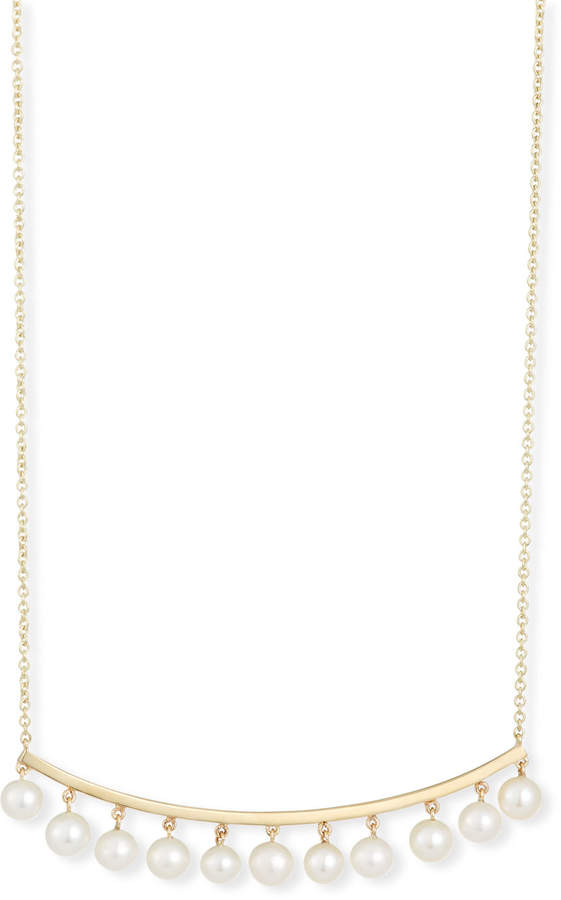 Sydney Evan Pearl Bar Necklace