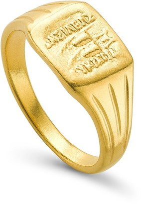 Missoma Lucy Williams Gold Square Coin Signet Ring