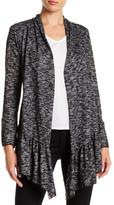 Edista Nicki Long Sleeve Knit Ruffle Hem Cardigan