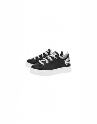 Moschino Calfskin Sneakers With Logo