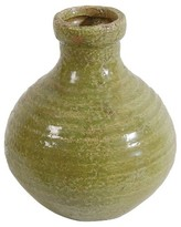 A&B Home Natural Finish Earthenware Bottle Vase - 7.5""