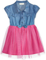 First Impressions Denim and Tulle Dress, Baby Girls (0-24 months), Created for Macy's
