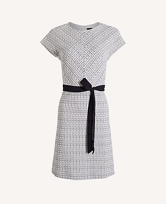 Ann Taylor Petite Checked Flare Dress