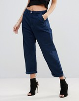 G Star G-Star Bronson Shatter Loose Pleate Denim Cropped Relaxed Jeans