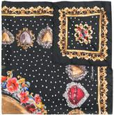 Dolce & Gabbana Sacred Heart Locket print scarf