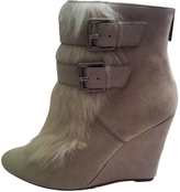 MICHAEL Michael Kors White Suede Ankle boots