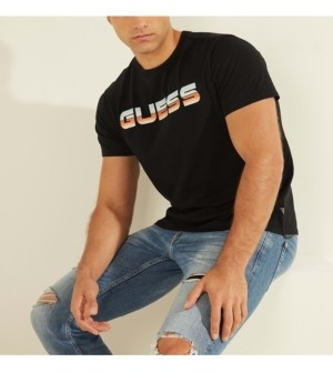 GUESS Men's Retro Logo Graphic Tee