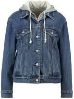 Levi's EXBOYFRIEND HOODIE TRUCKER Denim jacket saltwater