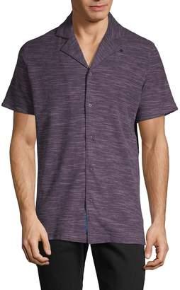 Robert Graham Heathered Short-Sleeve Shirt