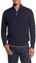 Tailorbyrd Men's Big & Tall Ahem Waffle Knit Quarter Zip Sweater