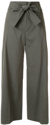 Theory Belted Cropped Trousers