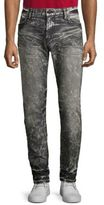 Robin's Jeans Studded Washed Slim-Fit Jeans