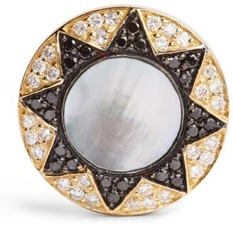 L'Atelier Nawbar Gold And Diamond Cosmic Love Sun Earrings