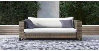 Tommy Hilfiger Oceanside Outdoor Wicker Loveseat with Cushions