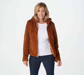 G.I.L.I. Got It Love It G.I.L.I. Zip Front Faux Fur Jacket with Hood