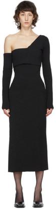 Proenza Schouler Black Silk Bandagey Knit Dress