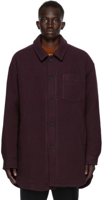 Cmmn Swdn Burgundy Wool Owen Jacket