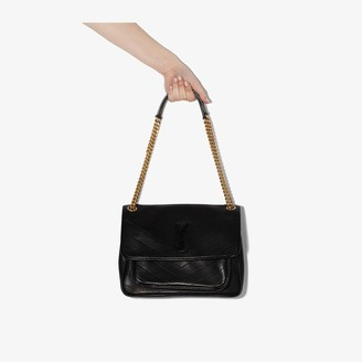 Saint Laurent black Niki medium leather shoulder bag