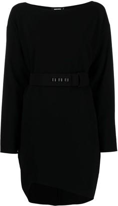 DSQUARED2 Belted-Waist Asymmetric-Hem Dress