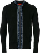 Diesel denim trim zip hoodie - men - Cotton - S