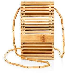 Cult Gaia Women's Slyva Bamboo Wood Crossbody Bag
