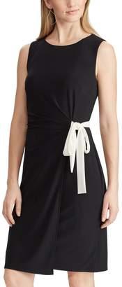 Chaps Petite Faux Wrap Dress