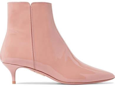 Aquazzura Quant Patent-leather Ankle Boots - Antique rose