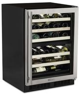 Marvel Refrigeration Marvel ML24WDG3RS 24-Inch Dual Zone Wine Cellar with Right-Hinged Door