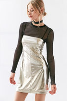 Silence + Noise Drita Metallic Shine Mini Dress