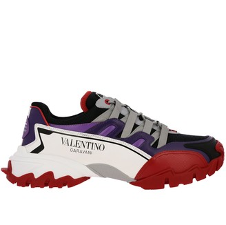 Valentino Climbers Sneakers With Genuine Leather And Micro Mesh