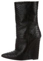 Giuseppe Zanotti Embossed Wedge Ankle Boots