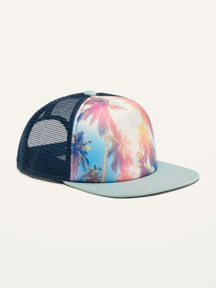 Old Navy Graphic Flat-Brim Trucker Hat for Boys