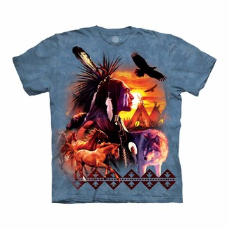 The Mountain Indian Collage Adult T-Shirt