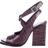 Jil Sander Embossed Leather Sandals