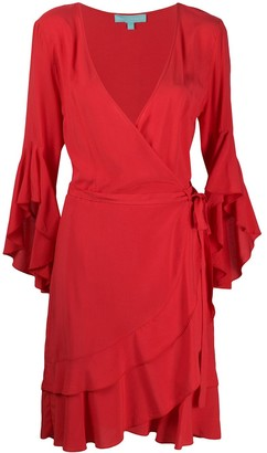 Melissa Odabash Kirsty ruffle wrap mini dress