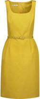 Oscar de la Renta Cotton-blend faille dress
