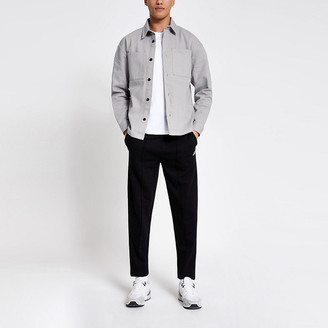 River Island Grey pocket front box fit overshirt