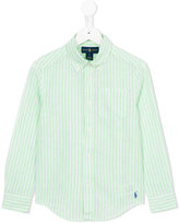 Ralph Lauren striped shirt - kids - Cotton/Linen/Flax - 8 yrs