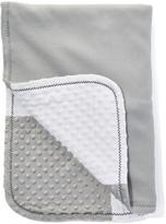 SpaSilk 30'' x 40'' Gray & White Minky Dot Blanket