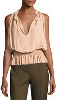 Theory Dezzie Classic Georgette Sleeveless Blouse, Pink