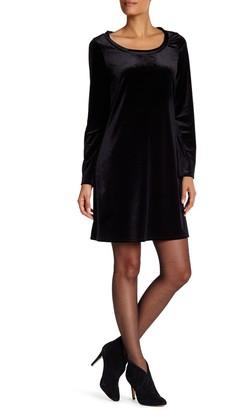 Laundry by Shelli Segal Bell Sleeve Trapeze Velvet Dress