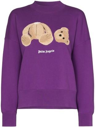 Palm Angels Bear-Print Sweatshirt