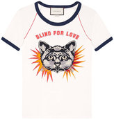 Gucci T-shirt with cat appliqué - women - Cotton - L