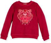 Kenzo Melange Logo Crewneck Sweatshirt, Size 4-6