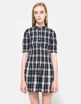 Kaori Check Shirt Dress
