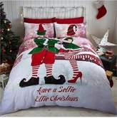 Catherine Lansfield Selfie Elfie Christmas Duvet Cover Set