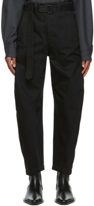Lemaire Black Heavy Twisted Jeans
