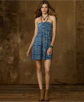 Denim & Supply Ralph Lauren Dress, Strapless Block-Print Jersey