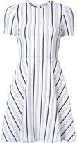 Opening Ceremony striped flared dress - women - Nylon/Polyester/Polyurethane - M