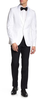 Savile Row Co Slim Fit Satin Shawl 2-Piece Tuxedo